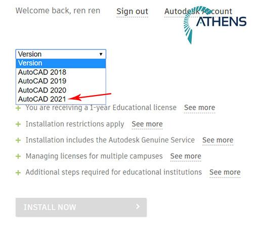 tải autocad 2021 student