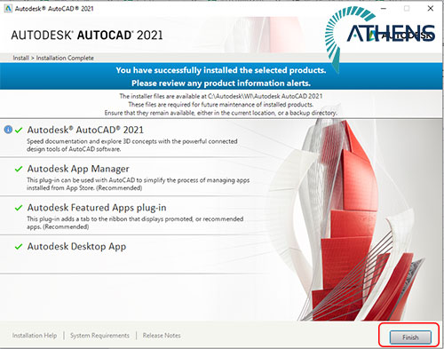 set up autocad 2021