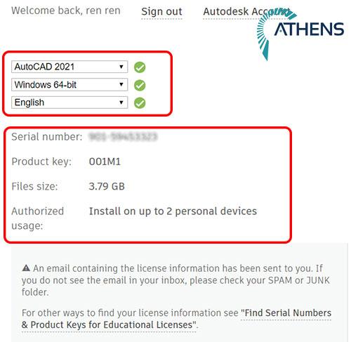 nhận key bản quyền phần mềm autocad 2021