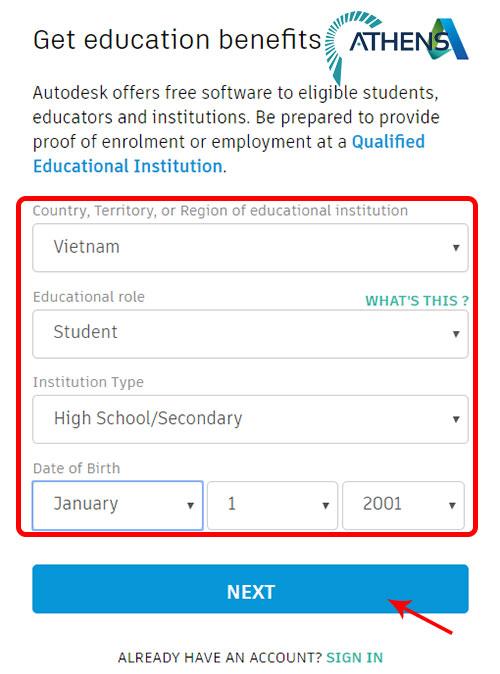 Tải autocad student tạo tài khoản truy cập autodesk
