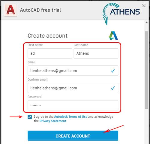 download autocad student tạo tài khoản sinh viên