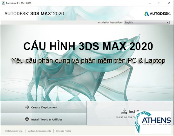 cấu hình máy tính cài 3ds max 2020