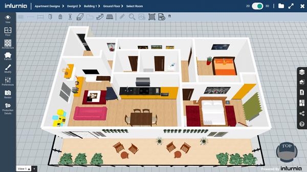 phần mềm thiết kế nội thất infunia