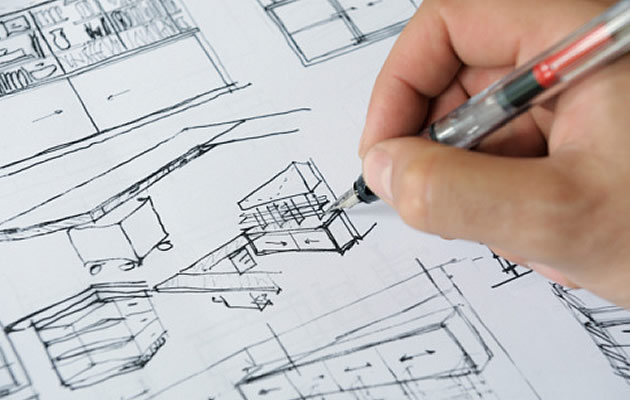 vẽ phác thảo thiết kế nội thất